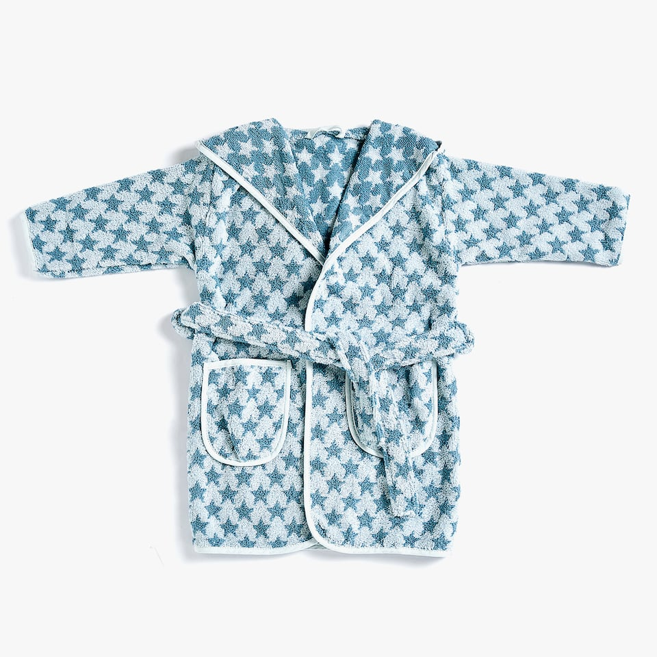 STAR PRINT JACQUARD BATHROBE
