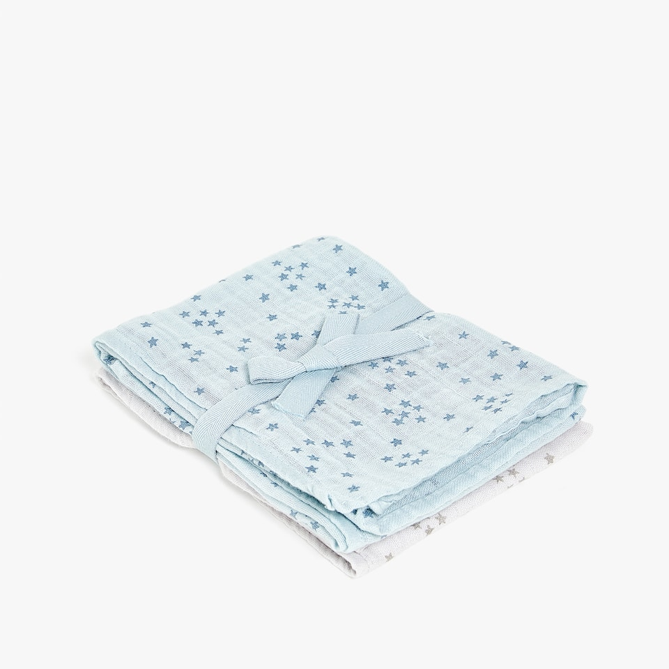 STAR PRINT MUSLIN (SET OF 2)