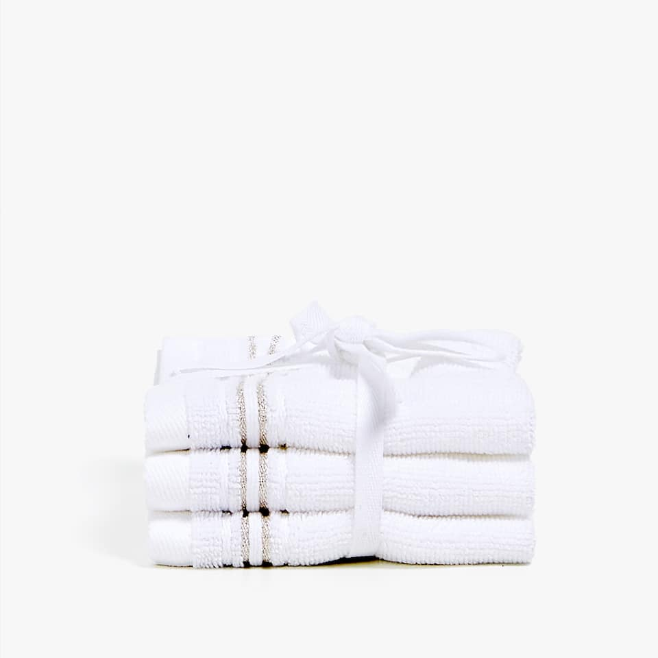 TOWEL WITH SHINY BORDER (SET OF 3)