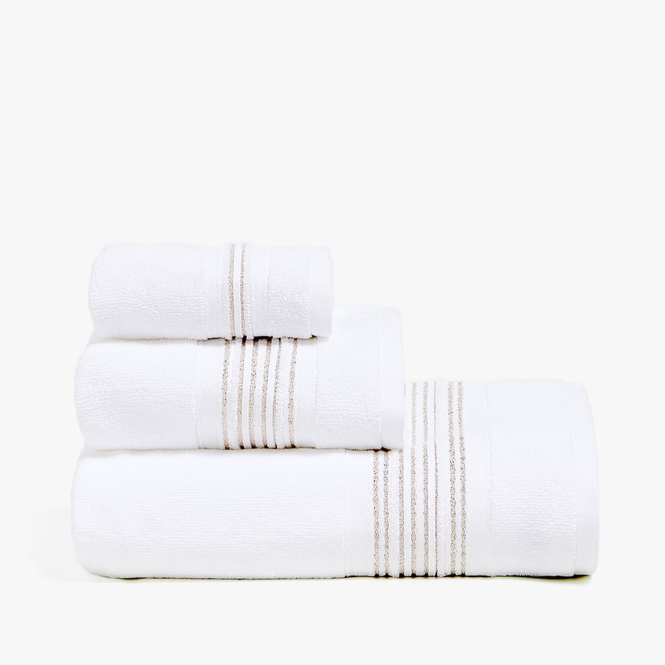 SERVIETTE DE BAIN BORDURE BRILLANTE