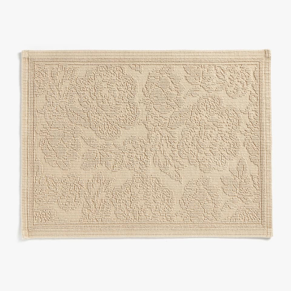 FLORAL COTTON BATH MAT