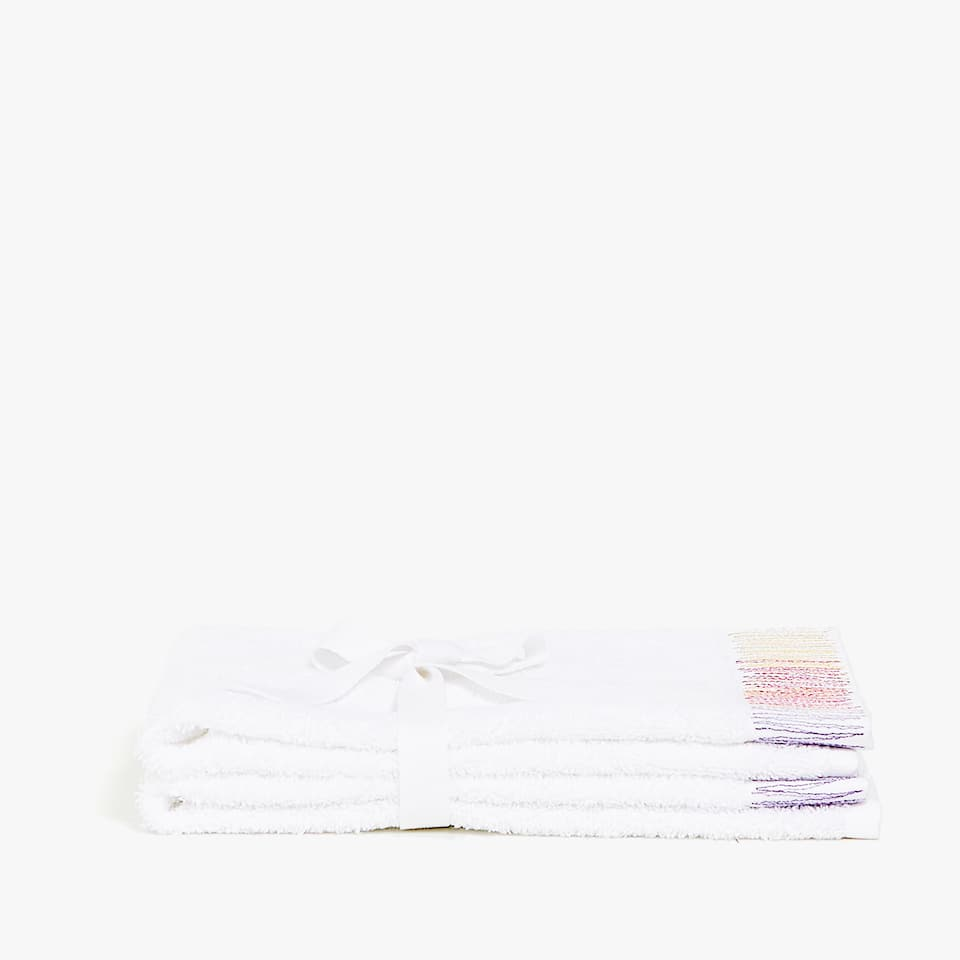 SERVIETTE DE BAIN BRODERIE MULTICOLORE (LOT DE 2)