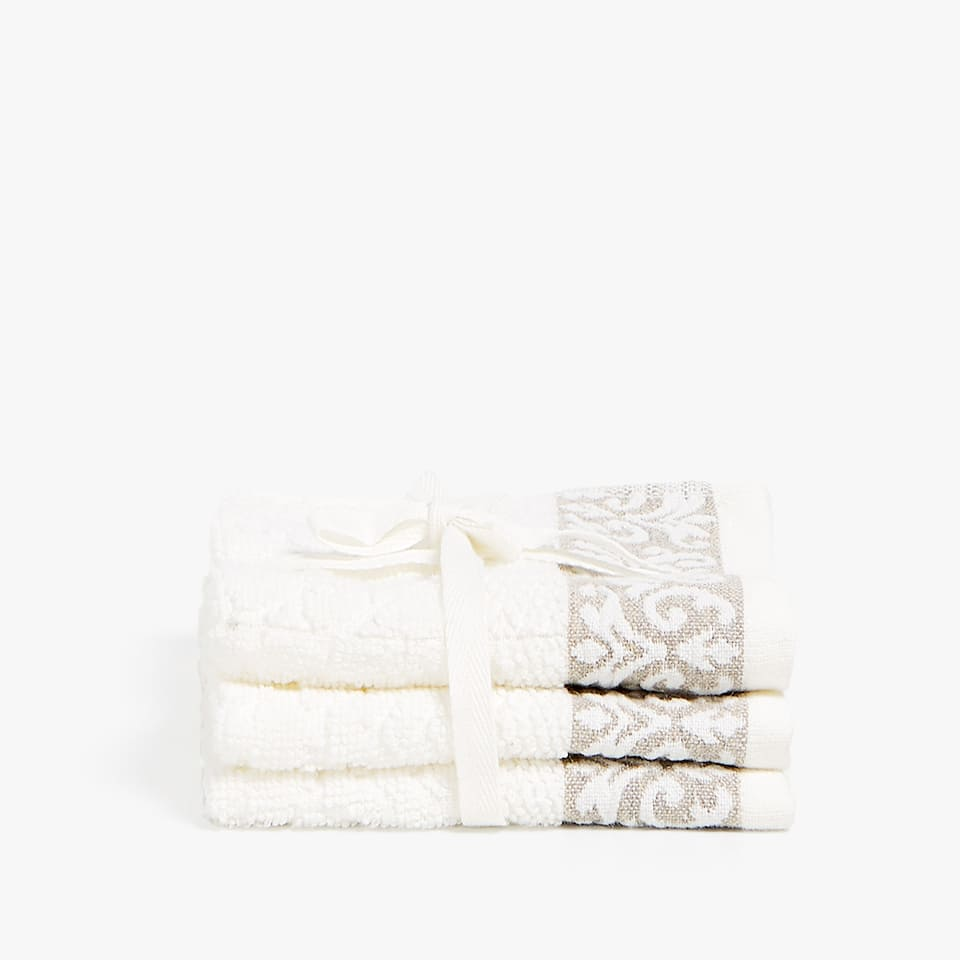 JACQUARD BORDER TOWEL (SET OF 3)