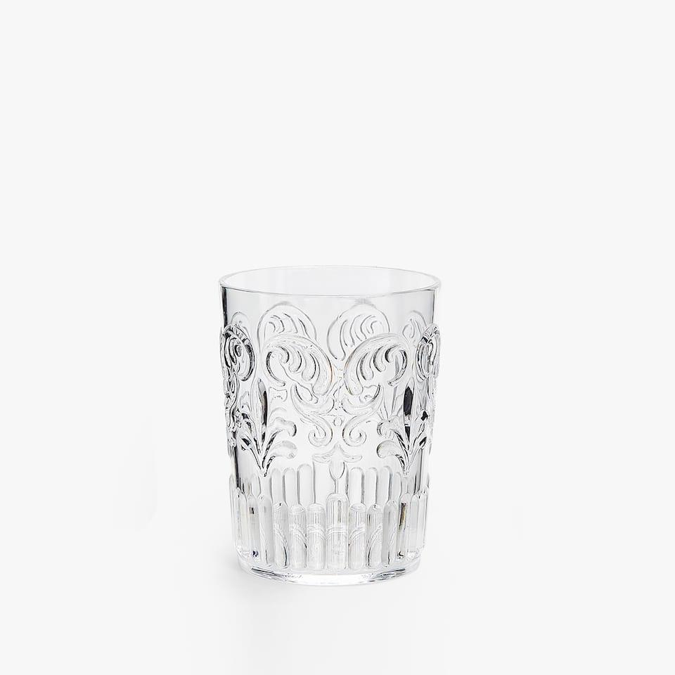 Vaso Relieve Transparente