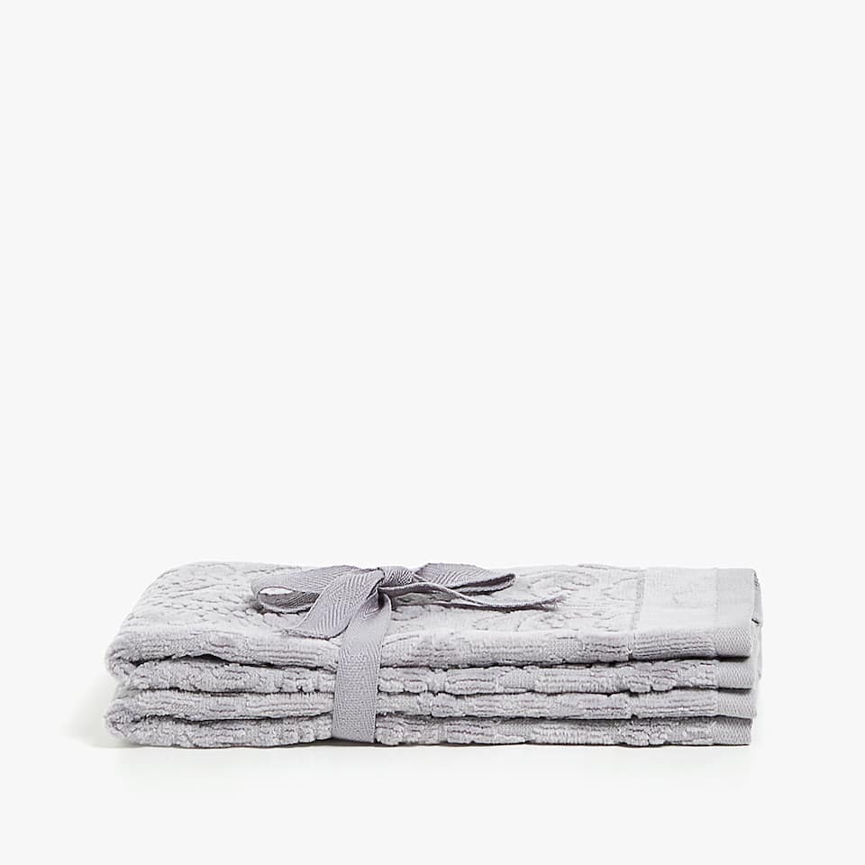 SERVIETTE DE BAIN VELOURS FLORALE (LOT DE 2)