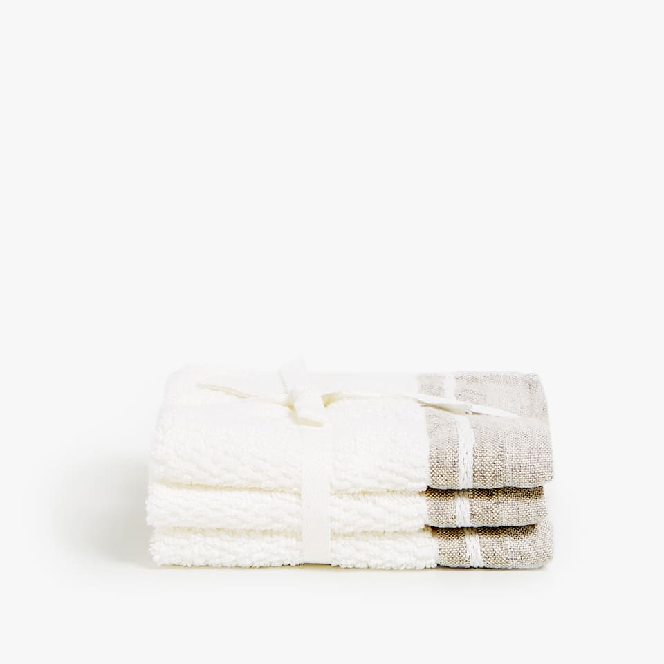 LINEN BORDER TOWEL (SET OF 3)