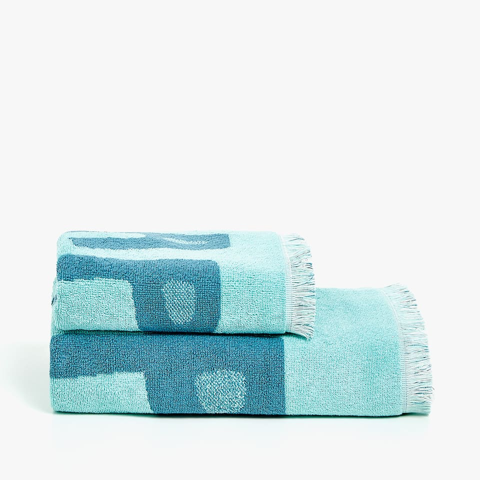 SERVIETTE DE BAIN JACQUARD MESSAGE