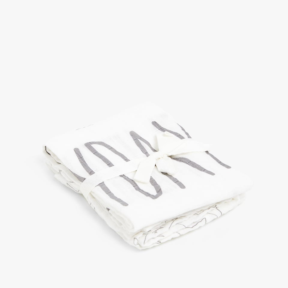 COMBINED PRINT MUSLIN (SET OF 2)