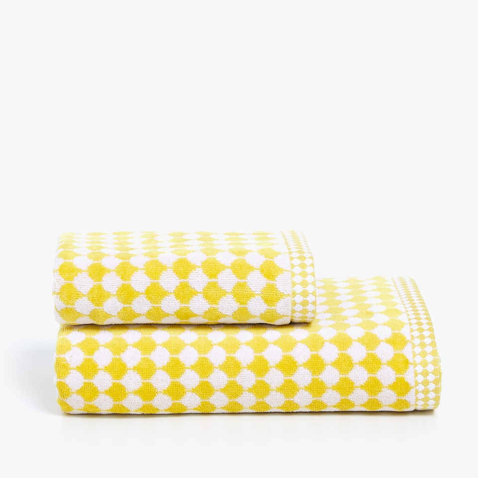 TWO-TONE JACQUARD TOWEL