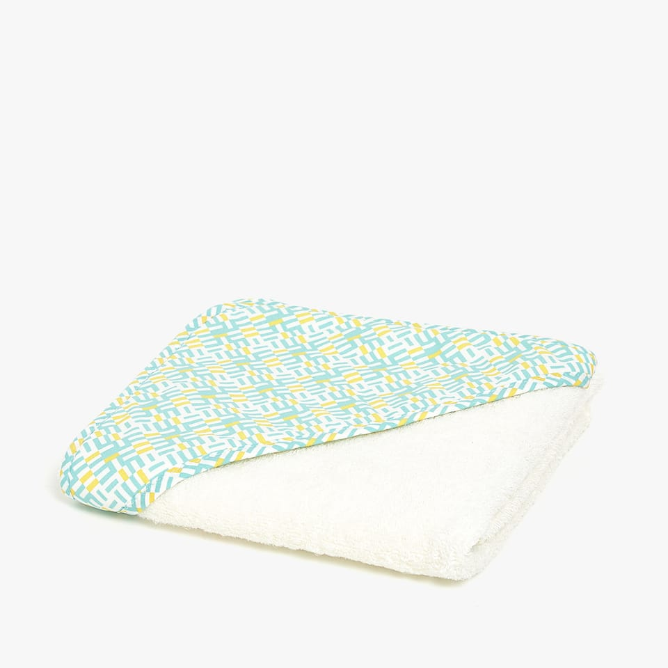 DOUBLE FABRIC HOODED TOWEL