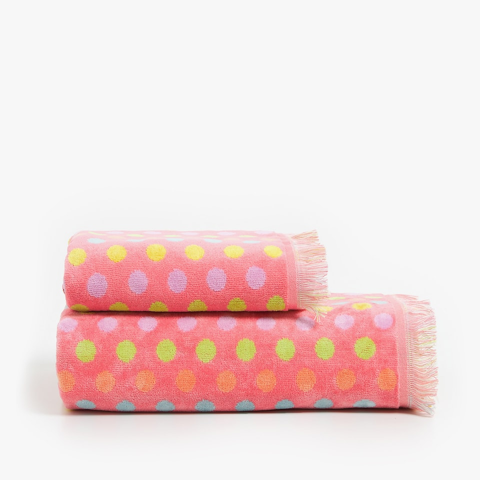COTTON POLKA DOT TOWEL