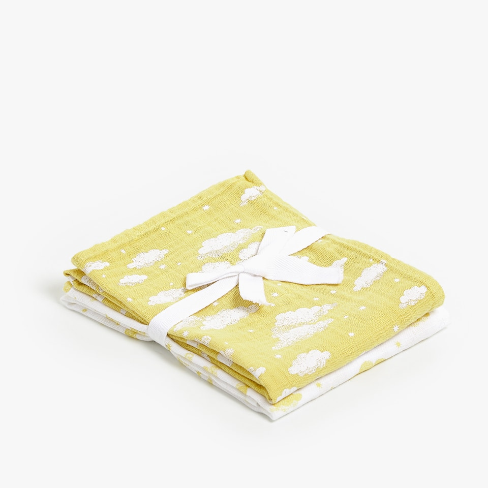 CLOUD PRINT MUSLIN (SET OF 2)