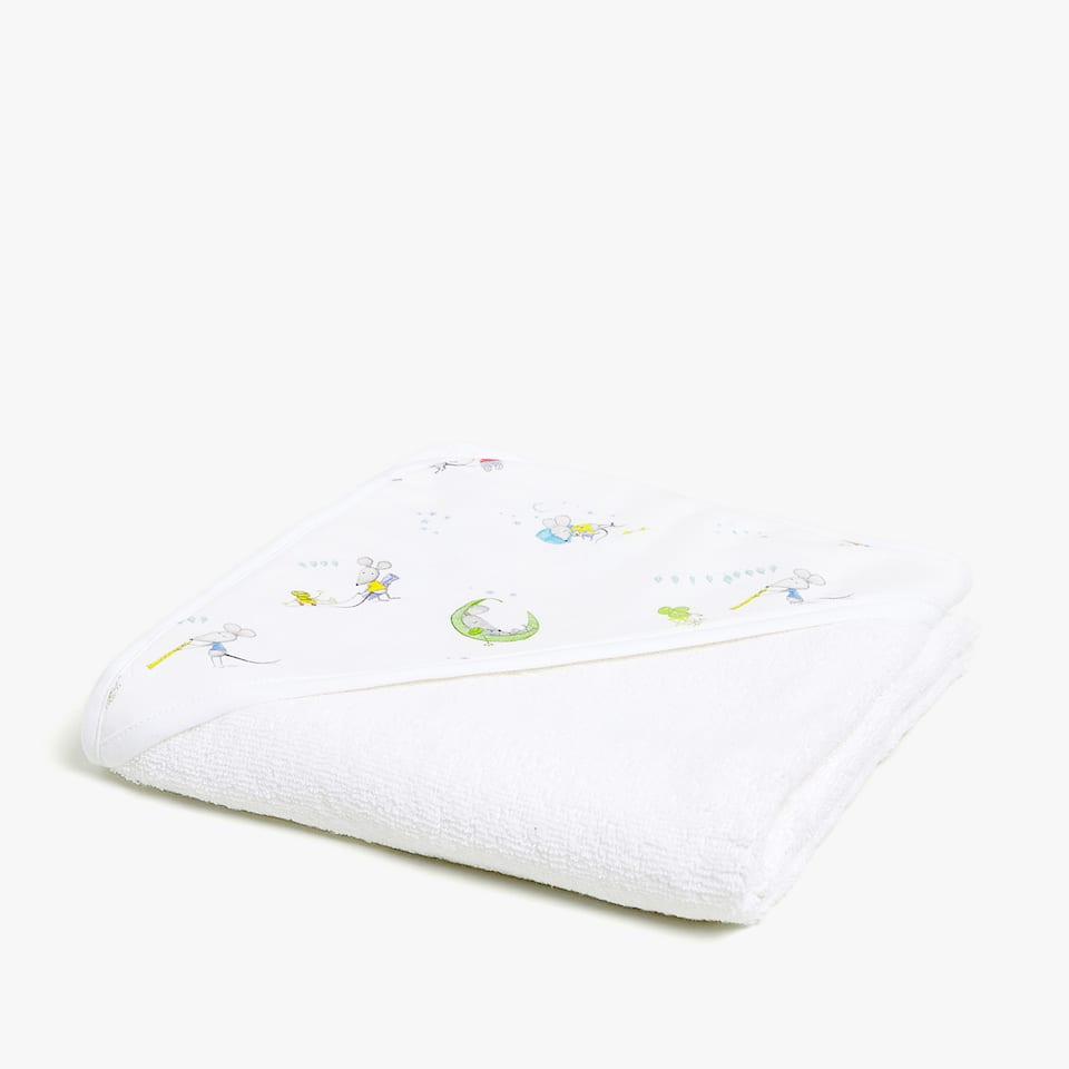 DIGITAL MICE PRINT BABY TOWEL