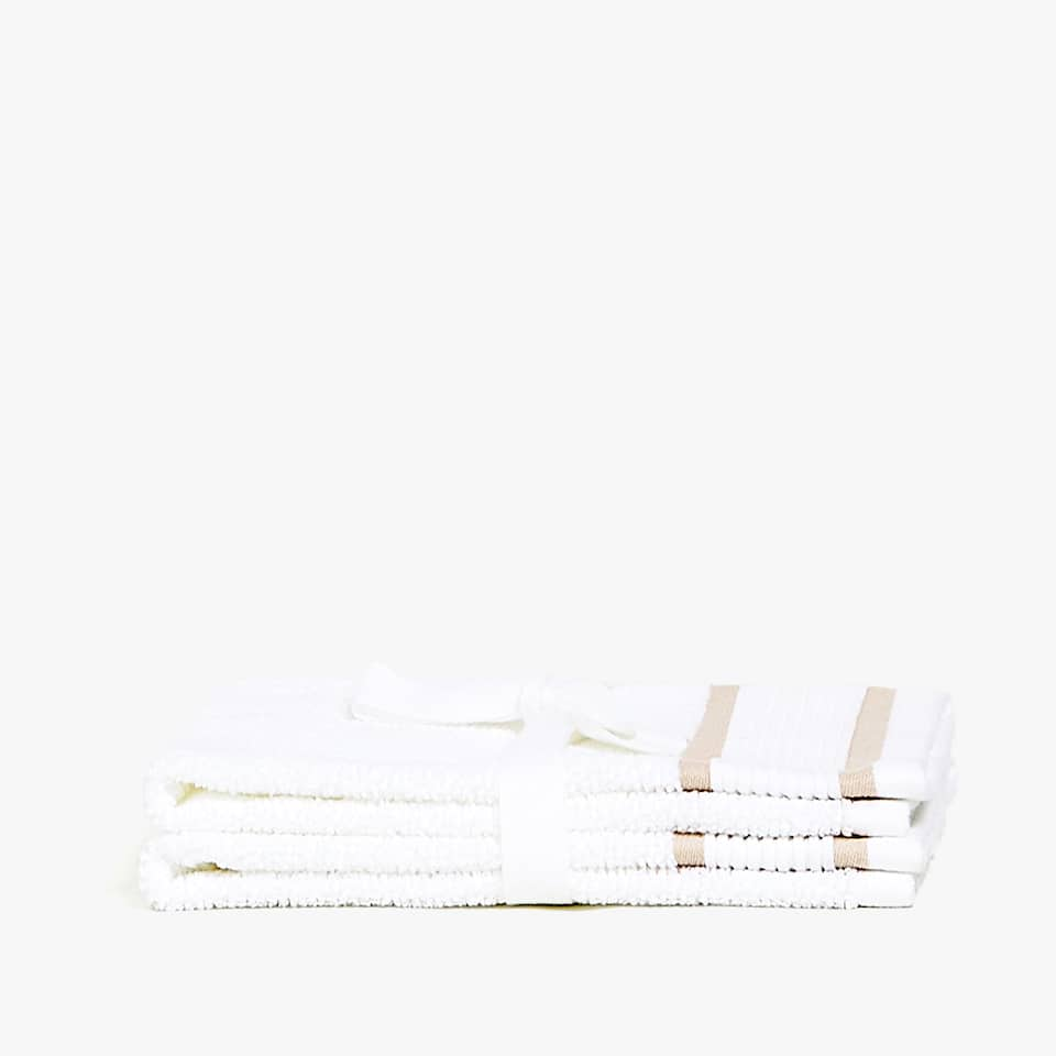 JACQUARD STRIPE TOWEL (SET OF 2)