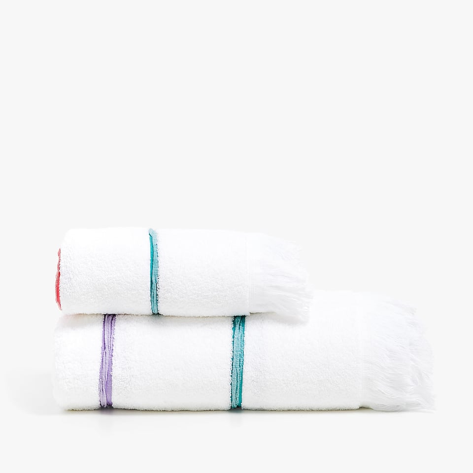 MULTICOLOURED STRIPES TOWEL