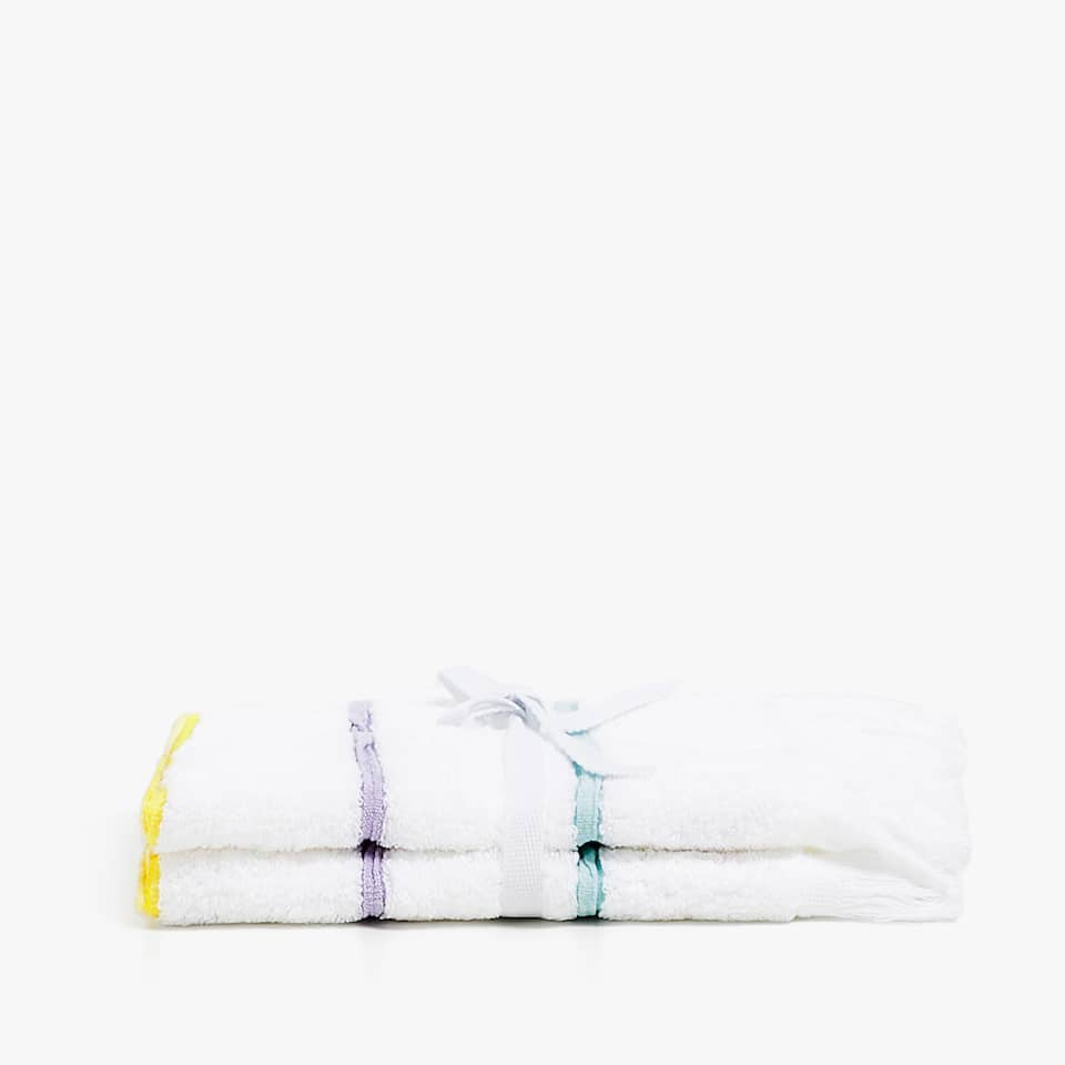 SERVIETTE DE BAIN RAYÉE MULTICOLORE (LOT DE 2)
