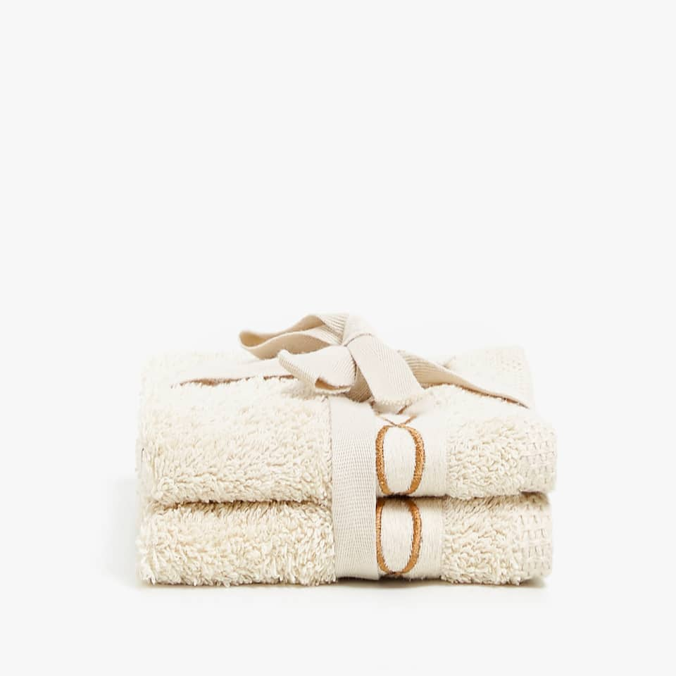 EMBROIDERED CHAIN TOWEL (SET OF 2)