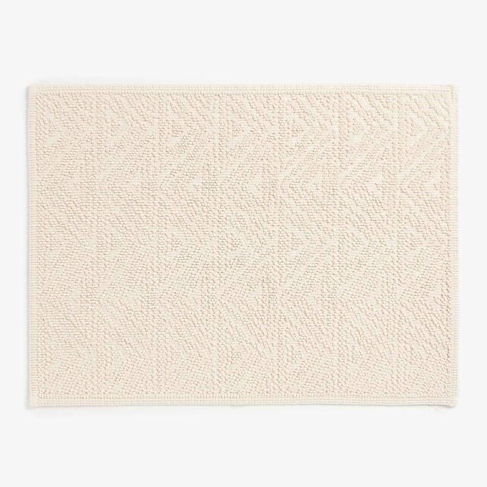 REVERSIBLE COTTON BATH MAT