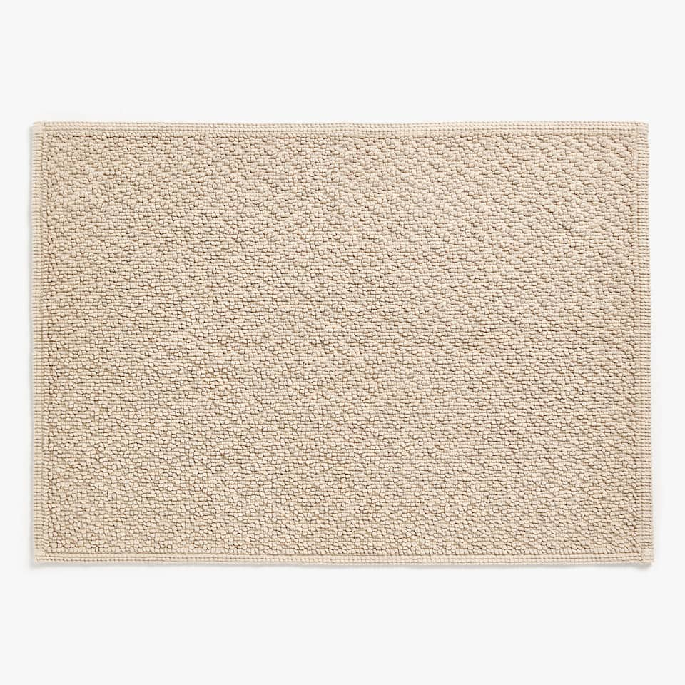 GEOMETRIC COTTON BATH MAT