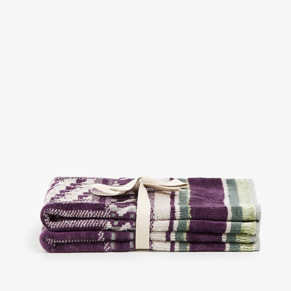 SERVIETTE DE BAIN JACQUARD ALLOVER (LOT DE 2)