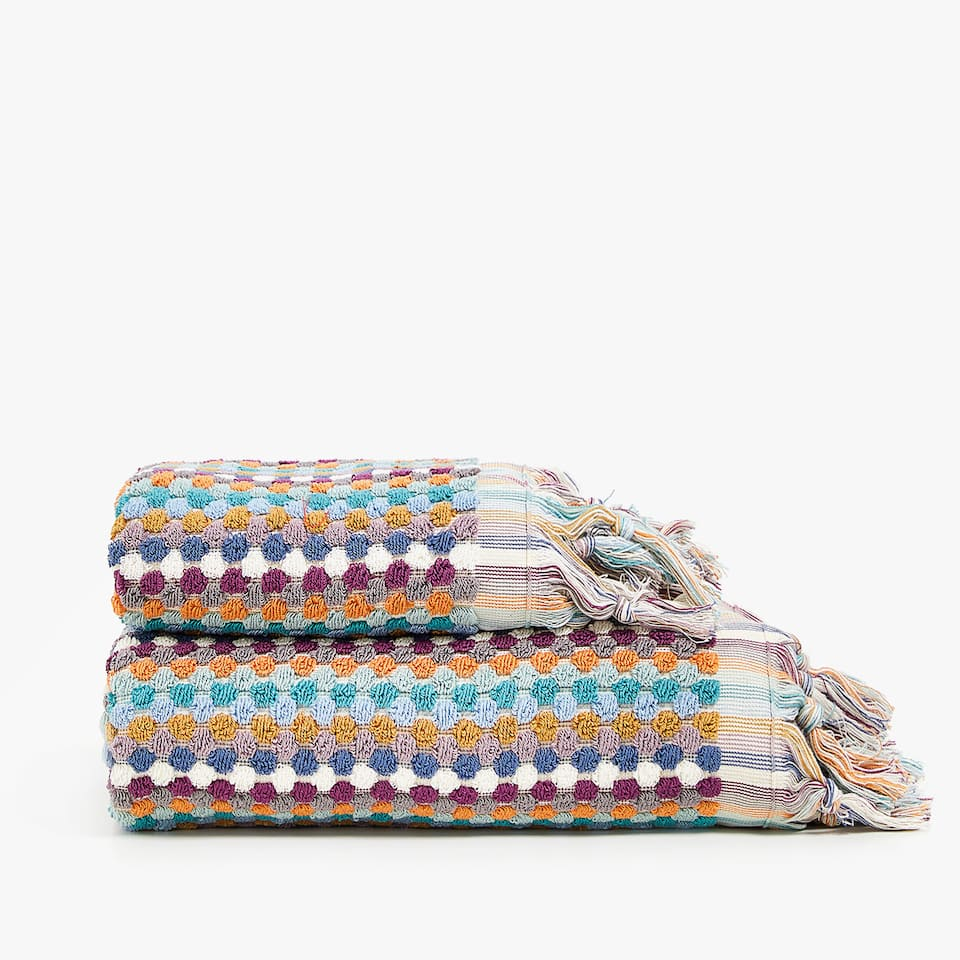 MULTICOLOURED DOTS TOWEL