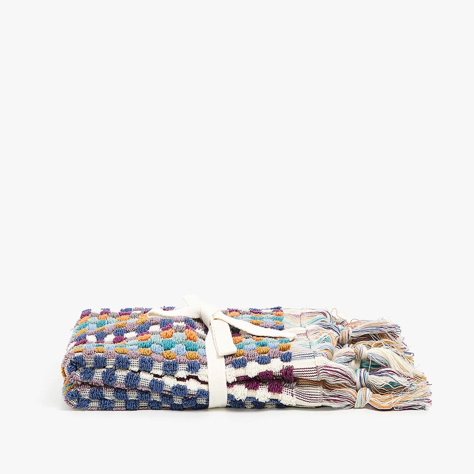 SERVIETTE DE BAIN POIS MULTICOLORES (LOT DE 2)