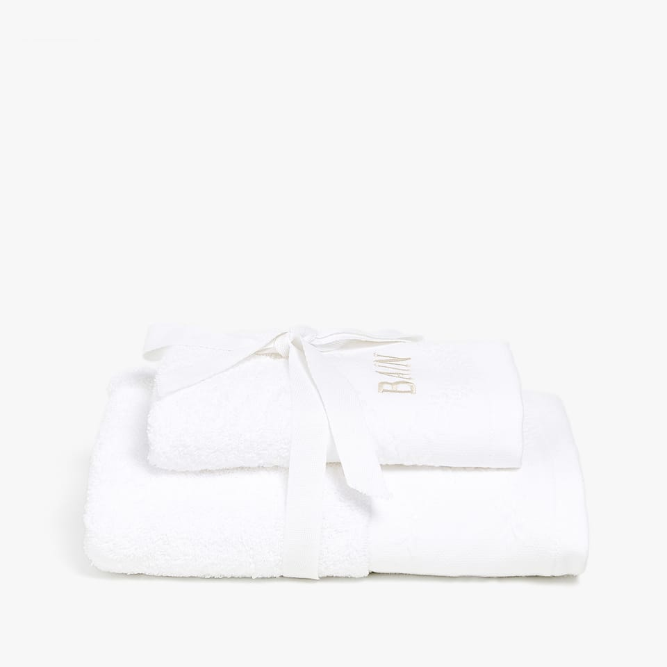EMBROIDERED GUEST TOWEL (SET OF 2)