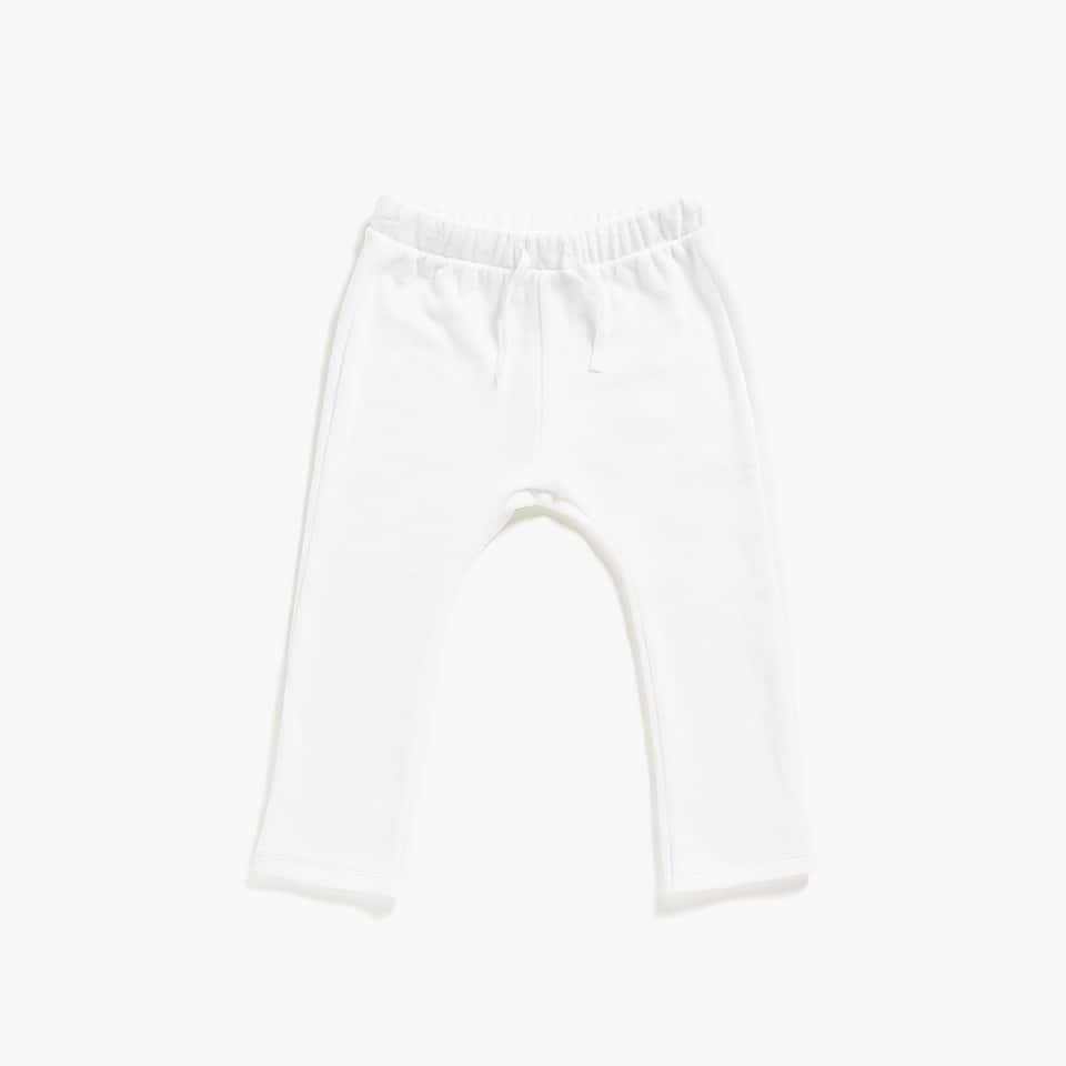 WHITE VELOUR TROUSERS