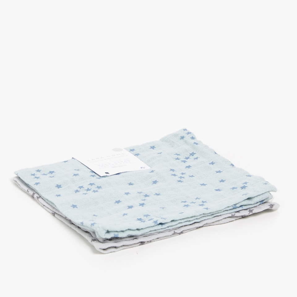 STAR PRINT MUSLIN CLOTHS (SET OF 2)