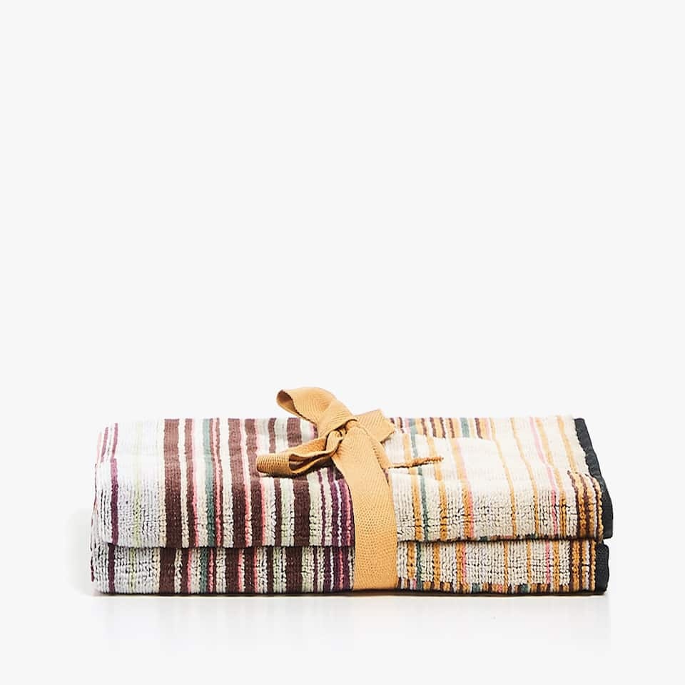 GEOMETRIC JACQUARD TOWEL (SET OF 2)
