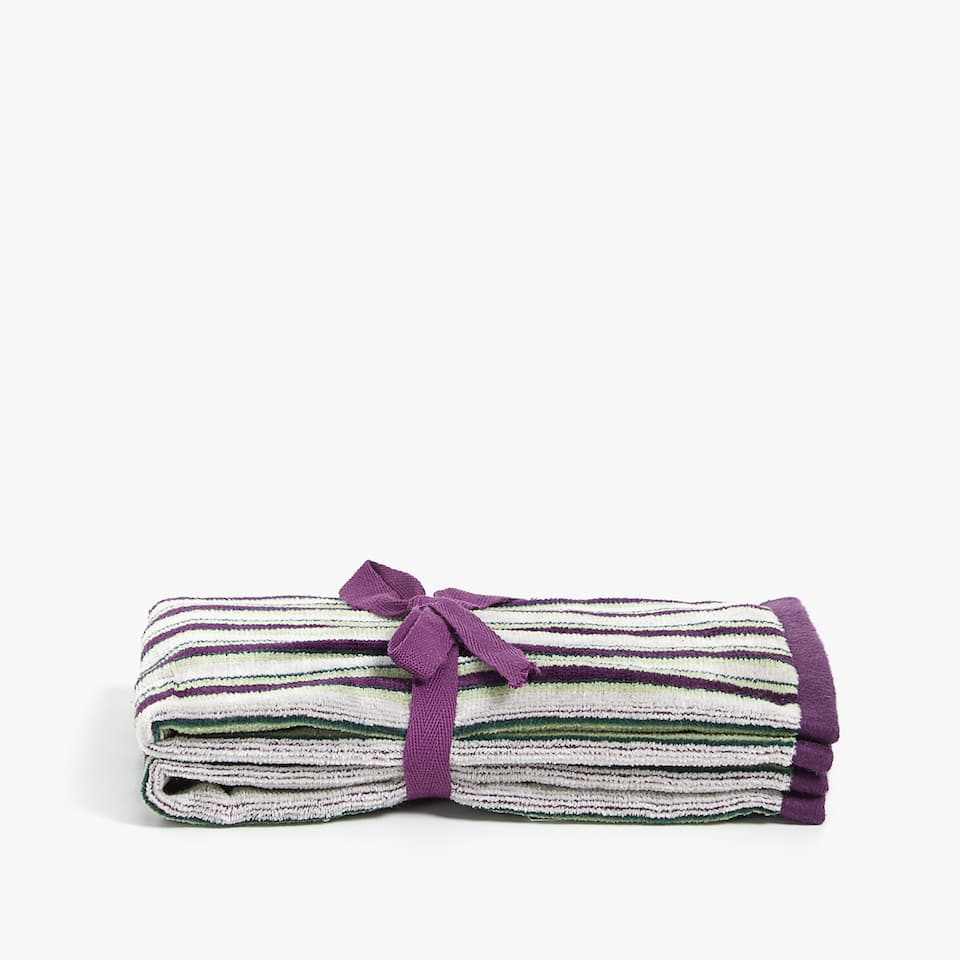 STRIPED VELVET TOWEL (SET OF 2)