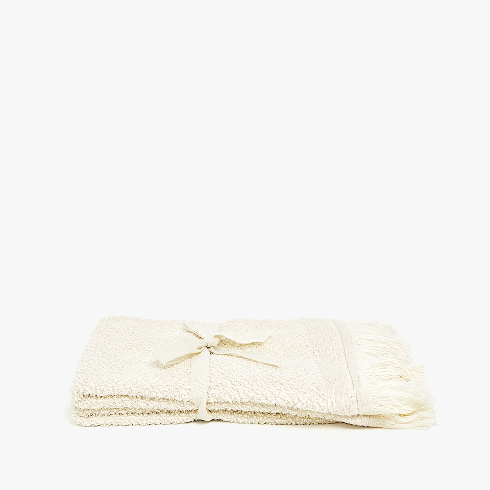 SERVIETTE DE BAIN À FRANGES (LOT DE 2)