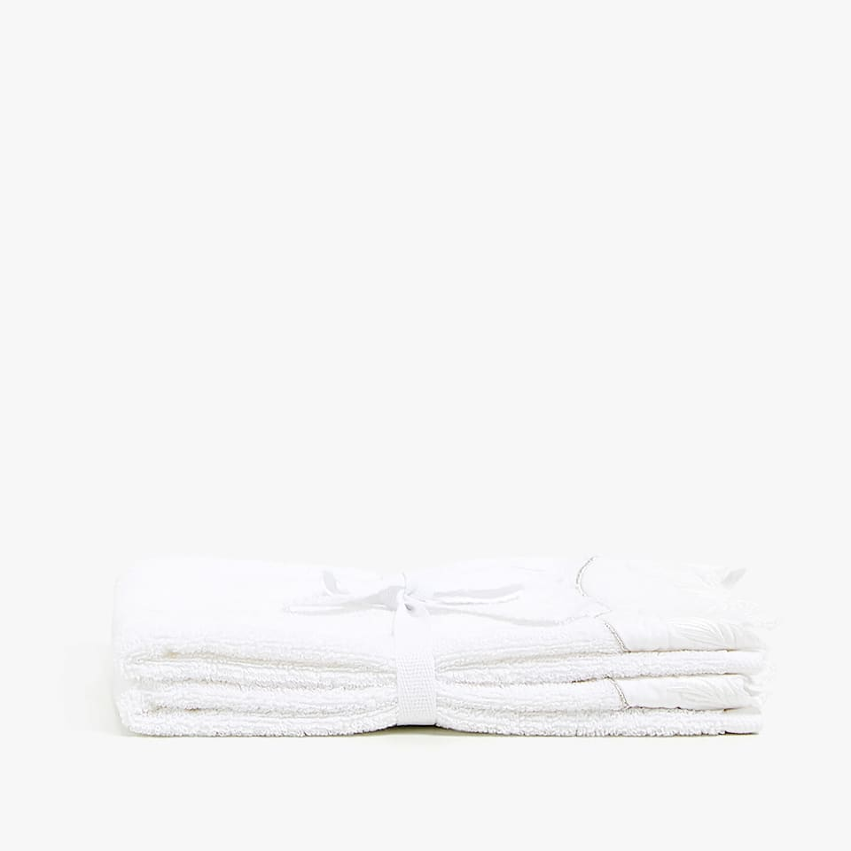 EMBROIDERED APPLIQUÉ TOWEL (SET OF 2)
