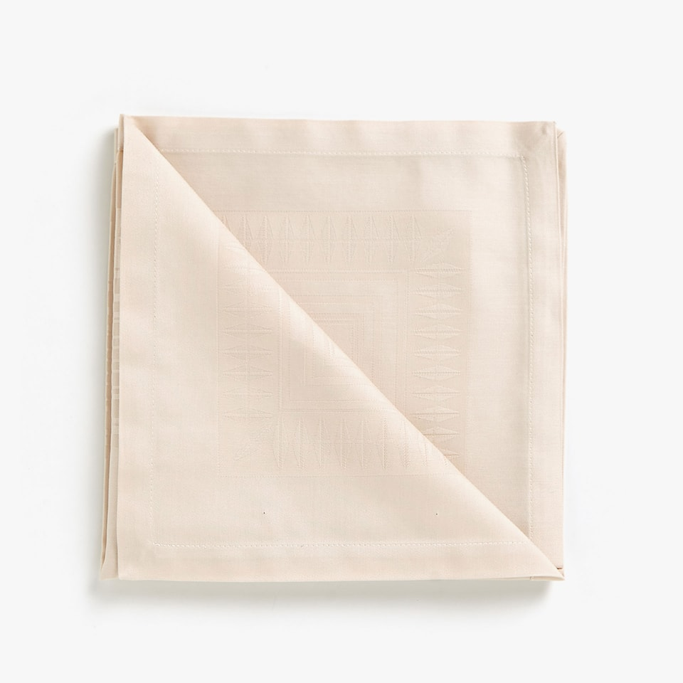 COTTON JACQUARD SATEEN NAPKINS (SET OF 4)