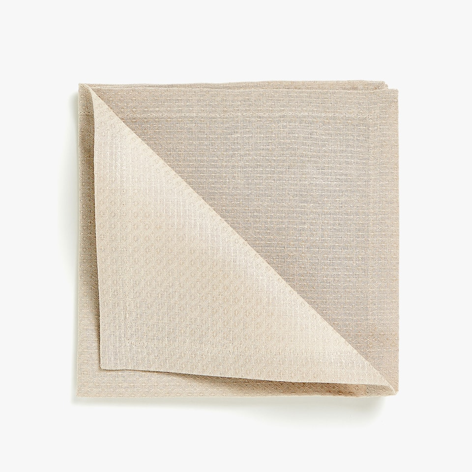 DOUBLE LAYER TEXTURED WEAVE LINEN AND COTTON NAPKINS (SET OF 4)