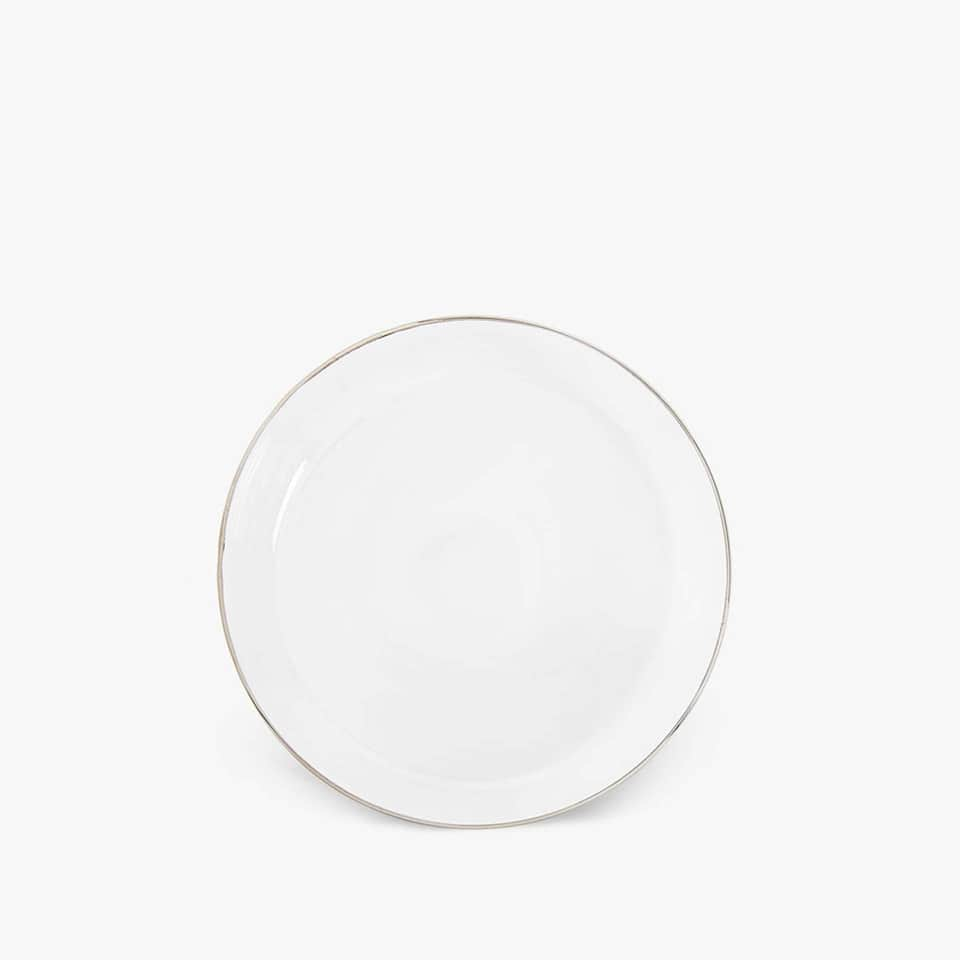 GLASS SIDE PLATE WITH RIM