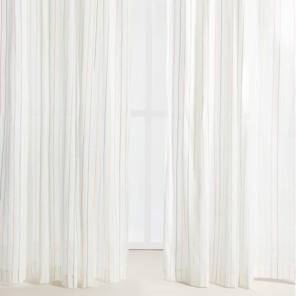 MULTICOLOURED STRIPE SHEER CURTAIN