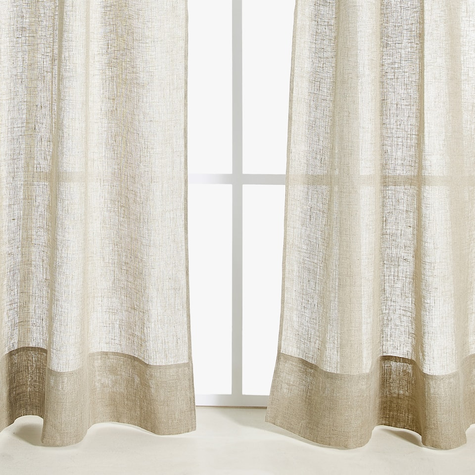 Visillos y cortinas zara home - Cortinas salon zara home ...