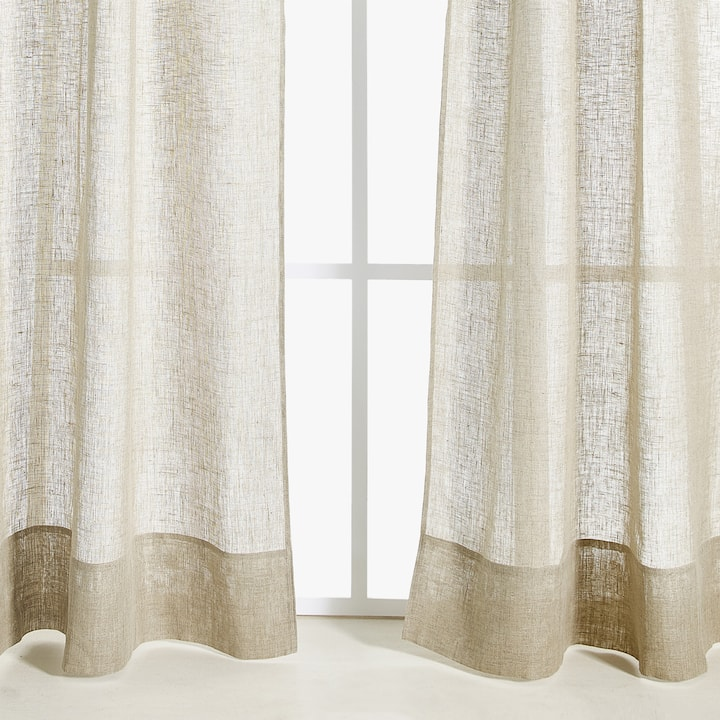Cortinas fruncidas affordable foto de cortinas with cortinas fruncidas trendy tipos de - Cortinas lino beige ...