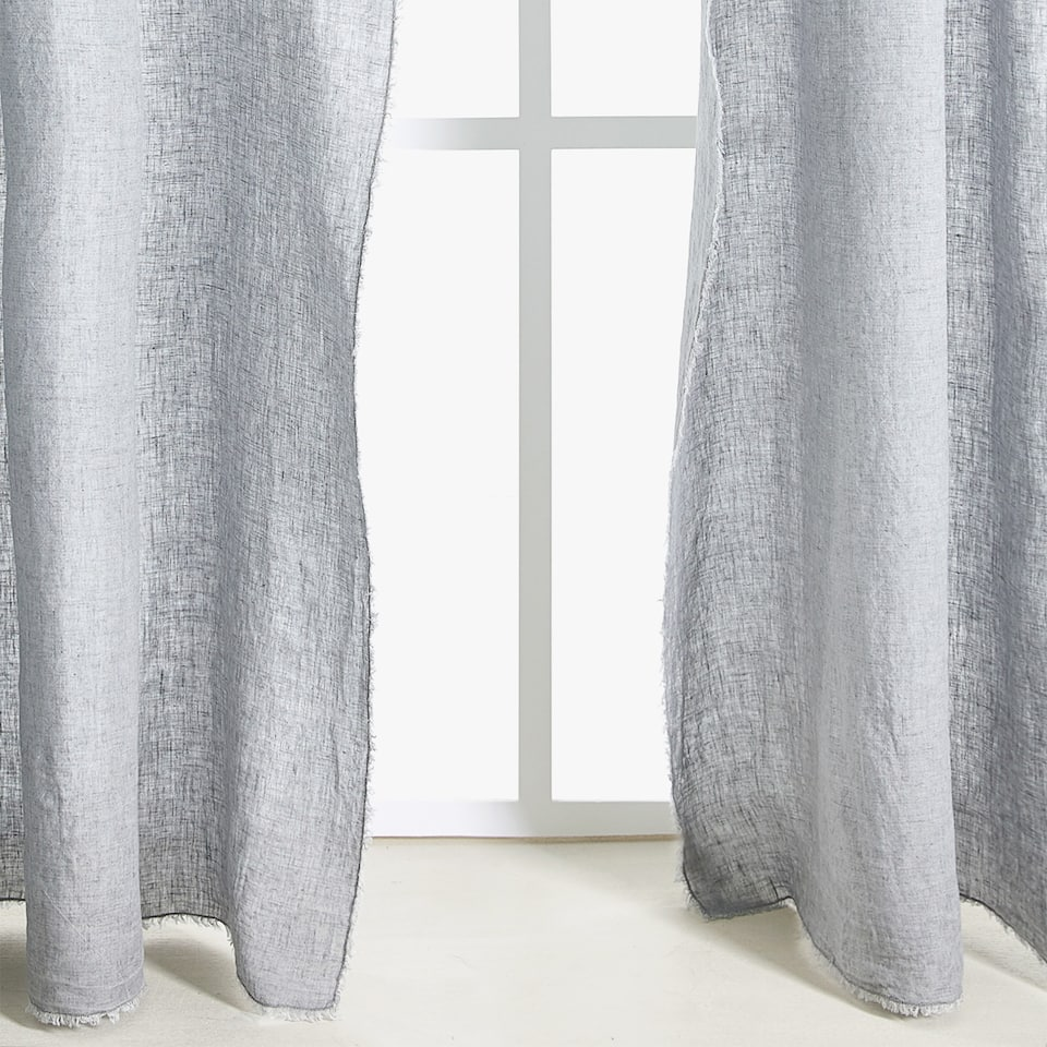 GREY LINEN CURTAIN