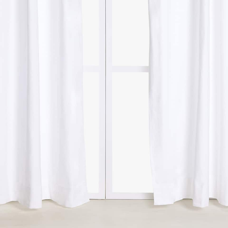 WHITE COTTON CURTAIN