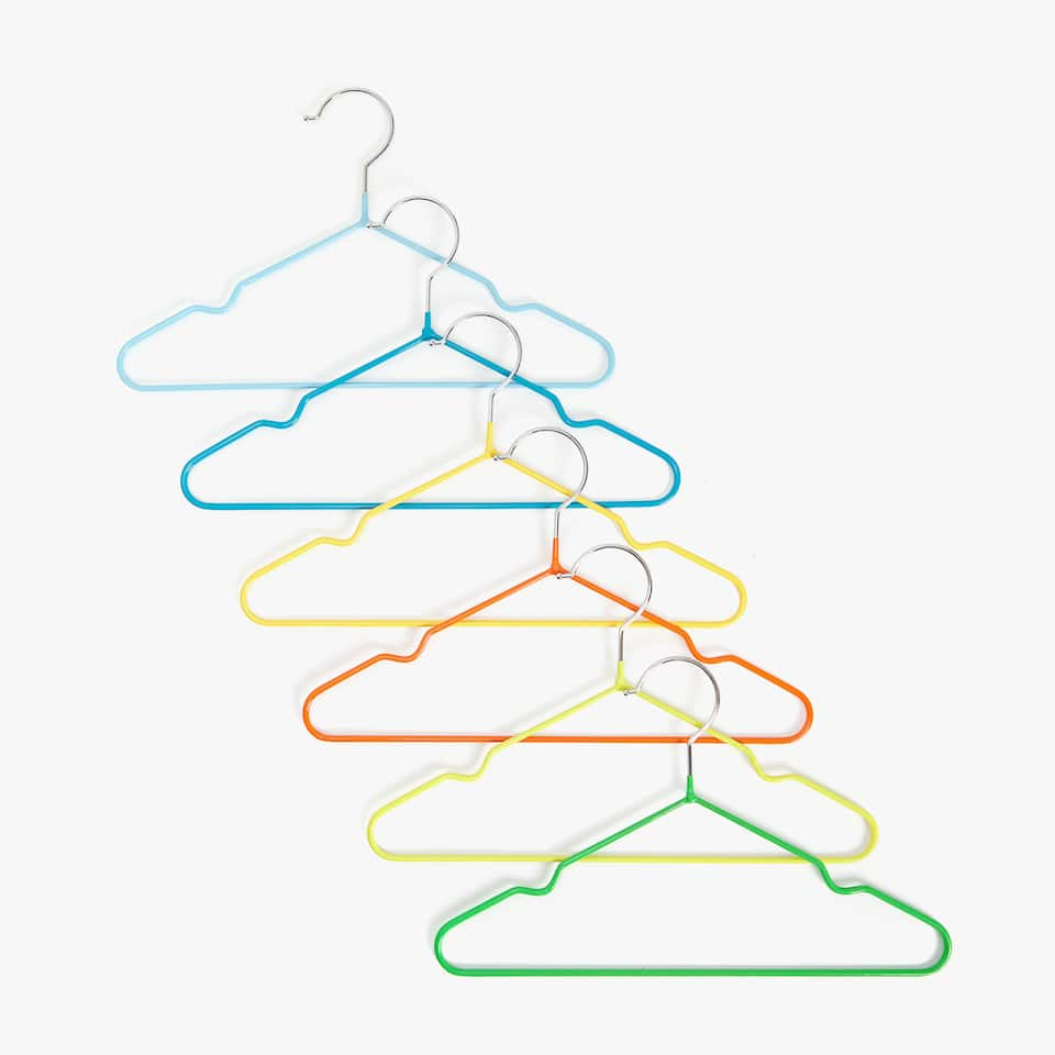 MULTICOLOURED METAL HANGER (SET OF 6)