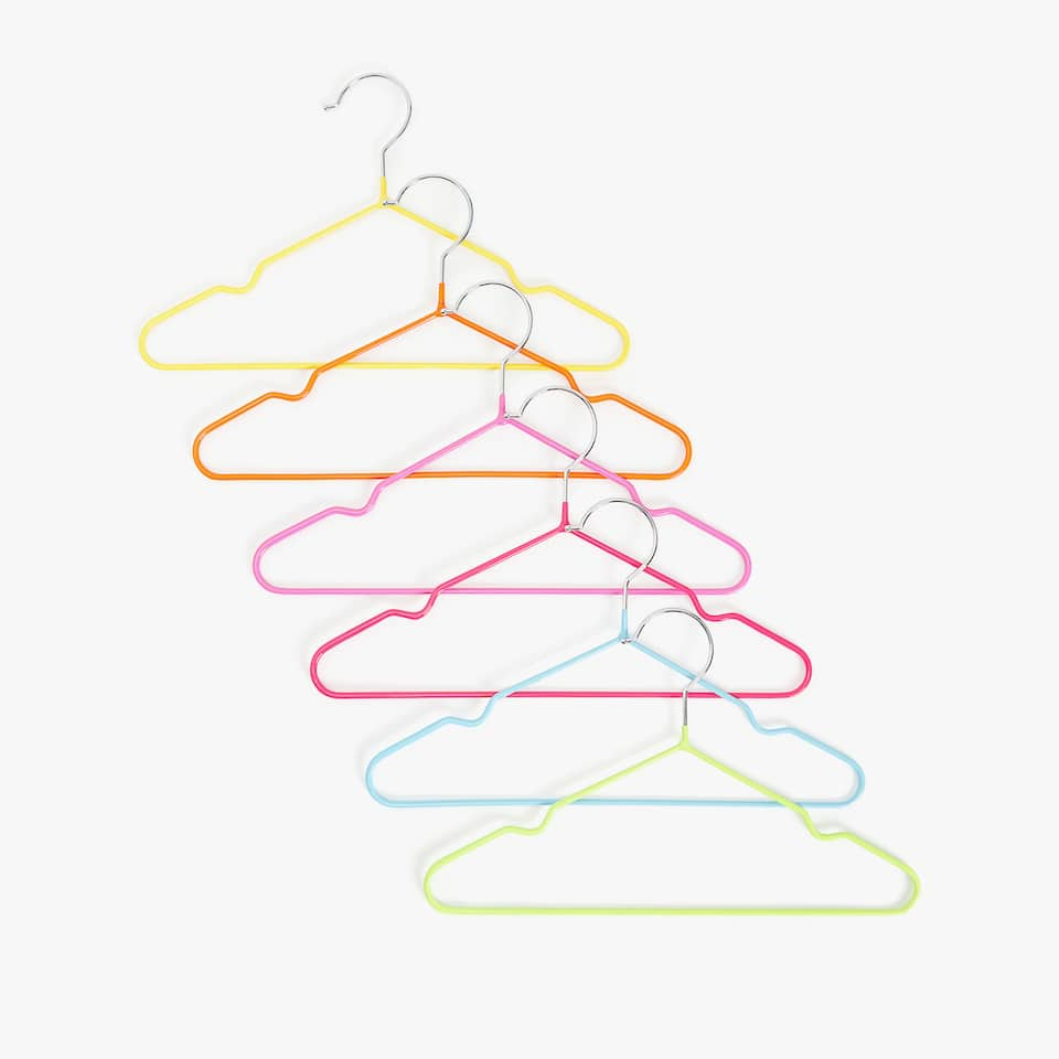 MULTICOLORED RUBBER HANGER (SET OF 6)