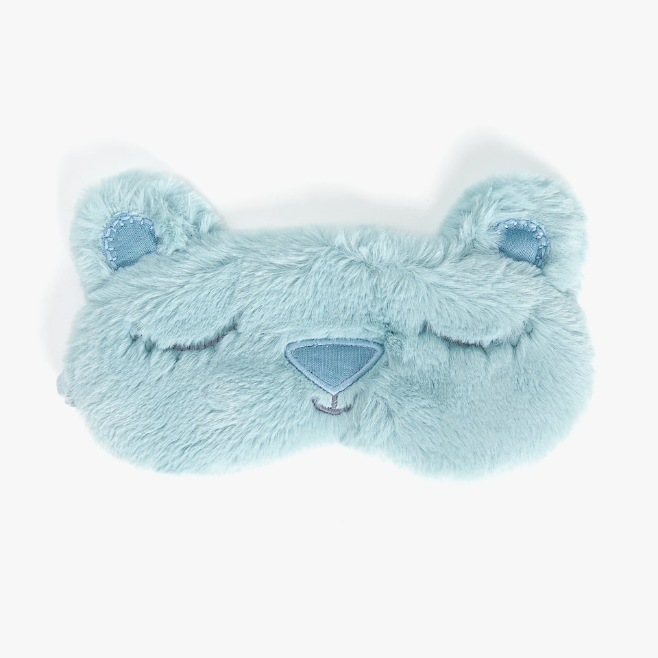 FAUX FUR BEAR EYE MASK