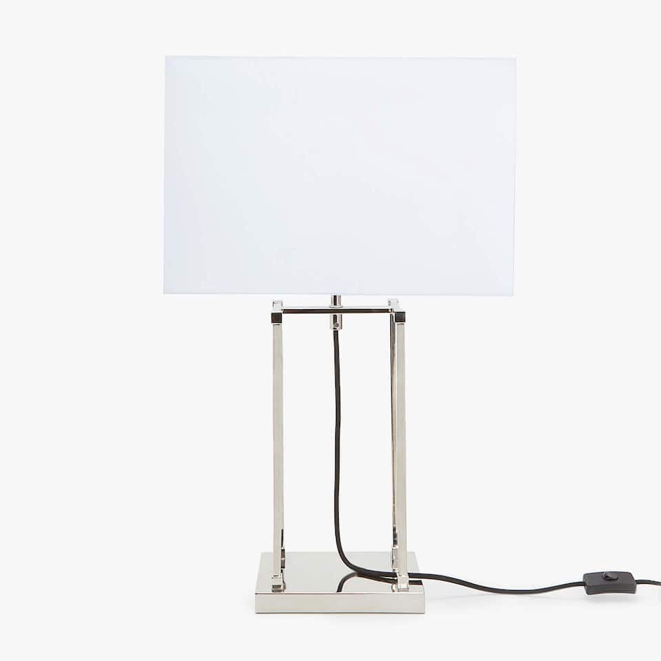 BOX STRUCTURE LAMP WITH METAL BASE