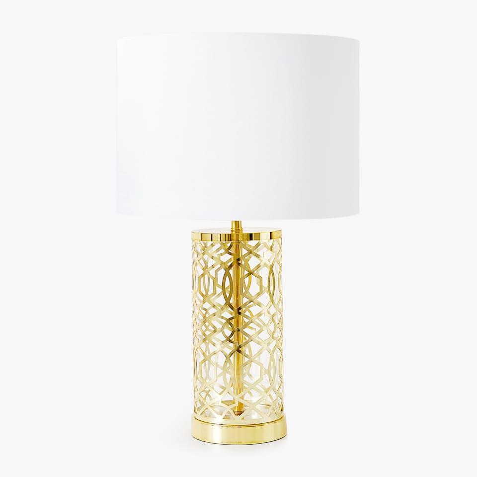 OPENGEWERKTE LAMP