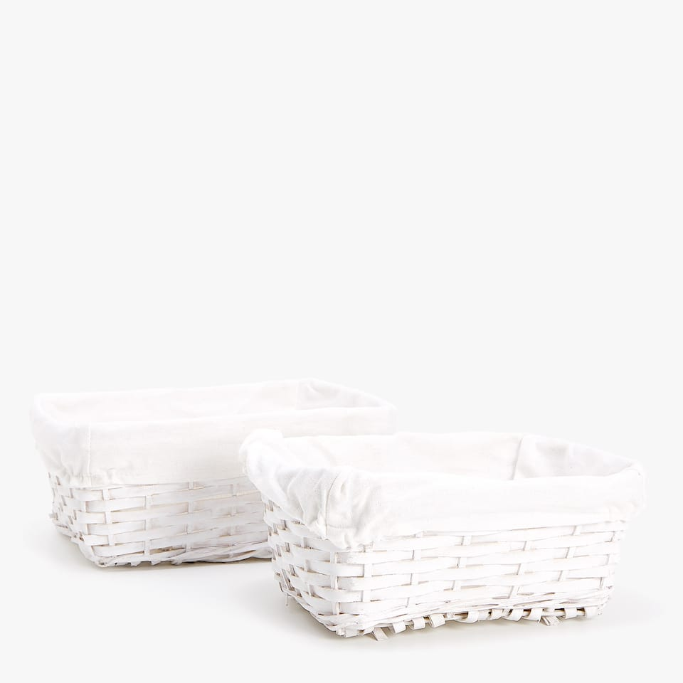 PLAITED BASKET (SET OF 2)
