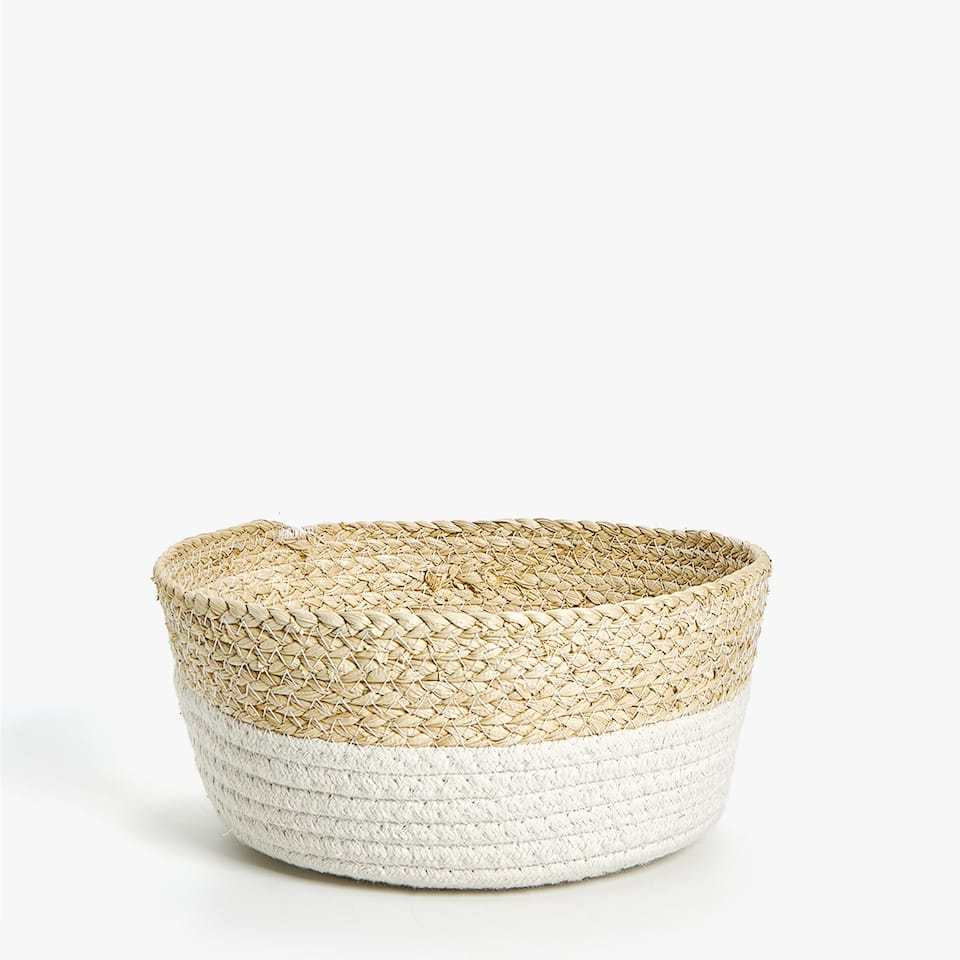 SMALL BASKET WITH WHITE BASE