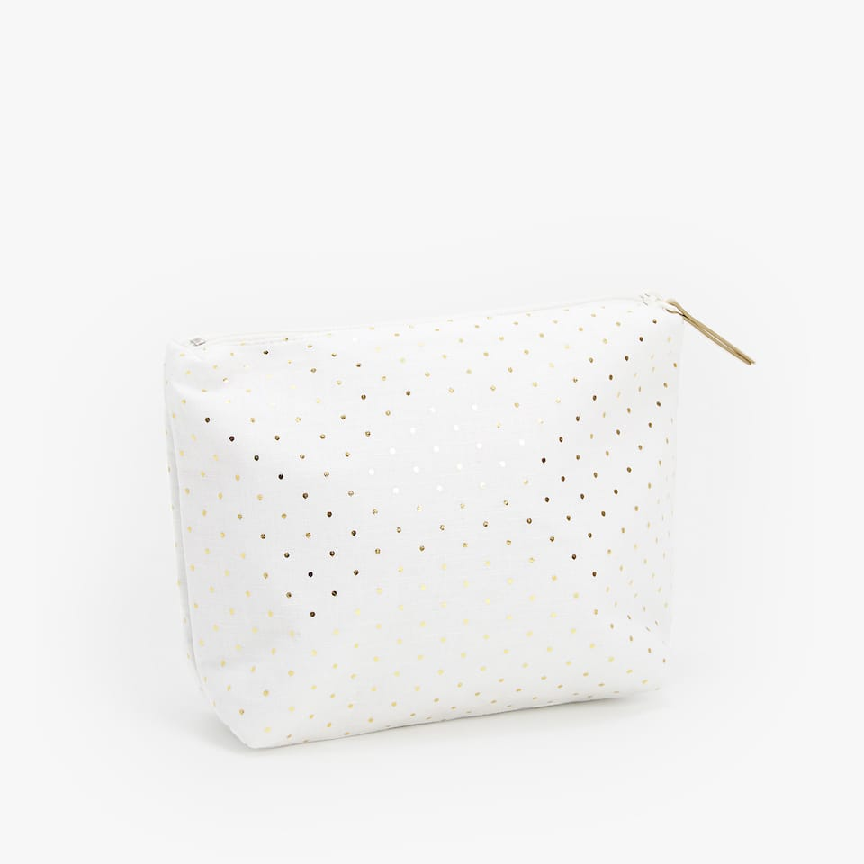 WATERPROOF POLKA-DOT COSMETIC BAG