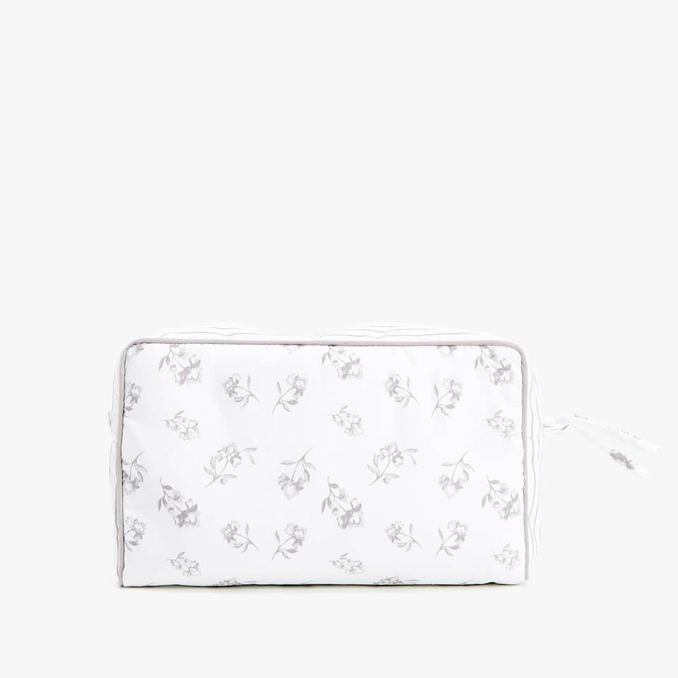 PRINTED COTTON TOILETRY BAG